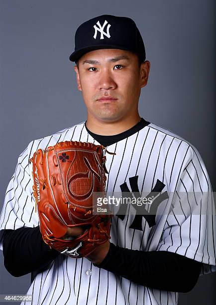 Masahiro Tanaka of the New York Yankees poses for a portrait on February 27 2015 at George M Steinbrenner Stadium in Tampa Florida