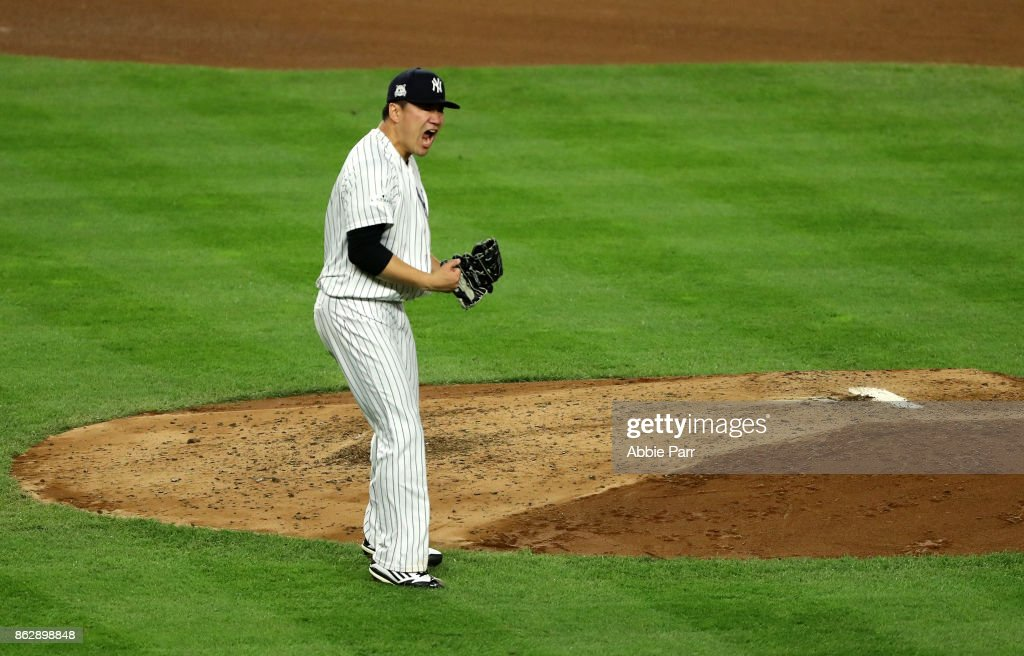 League Championship Series - Houston Astros v New York Yankees - Game Five : News Photo