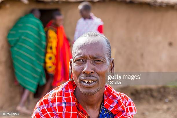 masai mara, kenya: african man - eastern african tribal culture stock photos and pictures