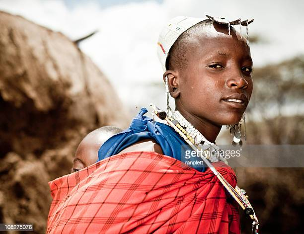 Masai Mother and Child in Africa