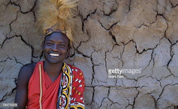 Masai tribesman smiling, portrait