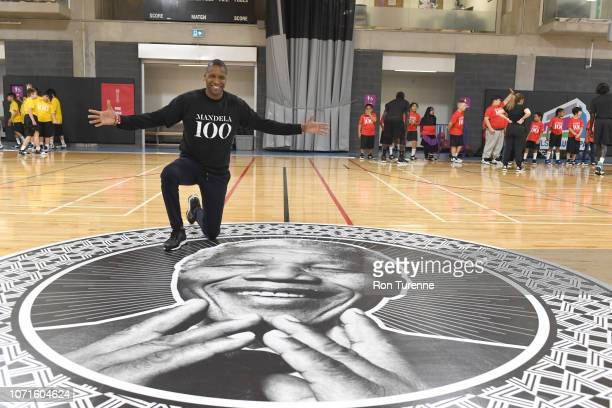 December 5: Masai Ujiri attends the Giants of Africa camp with Chris Bosh and Masai Ujiri at the MLSE Launchpad in Toronto, Ontario, Canada on...