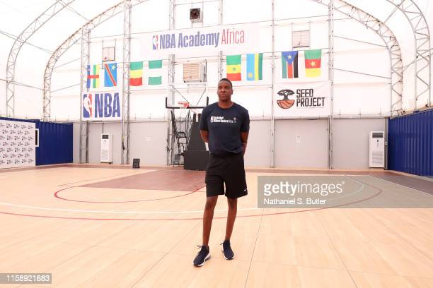 Masai Ujiri, President of Basketball Operations for the Toronto Raptors, takes a tour of the NBA Academy Africa on July 30, 2019 in Saly, Senegal....