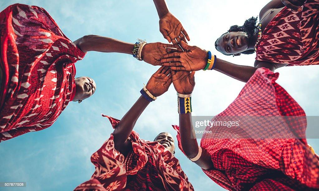 Masai la unidad : Foto de stock