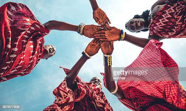 masai unity - warrior person stock photos and pictures