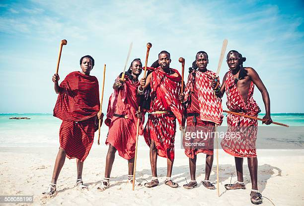 masai warriors - warrior person stock photos and pictures