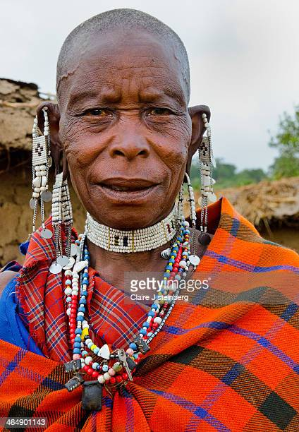 Masai woman in tribal wear in NgorongoroTanzania