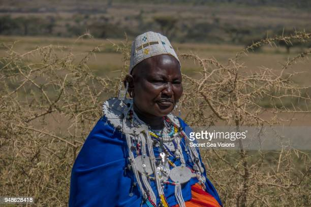 masai woman - eastern african tribal culture stock photos and pictures