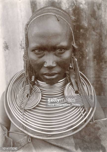 Masai woman There is no official date for this image taken c 1910 Kenya 1910