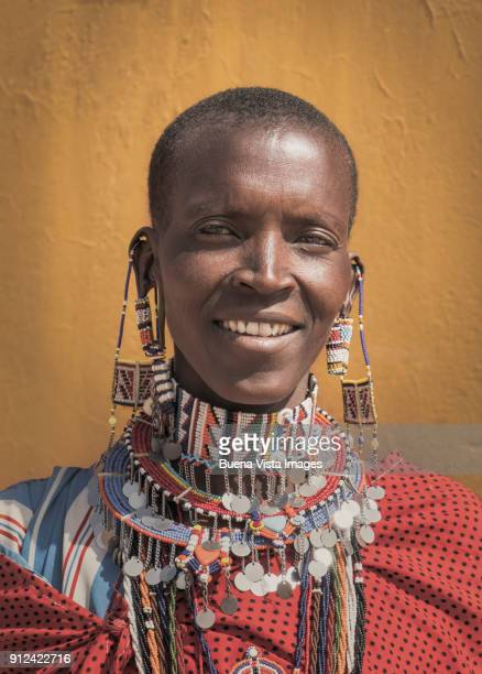 Masai woman with traditional clothes