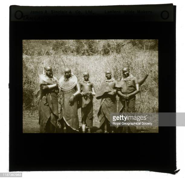 Masai women from a selection of 20 slides of Tanganyika Territory made from negatives taken by Brigadier General ME Willoughby Taken before 1940...