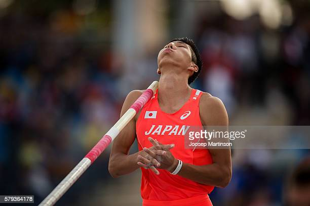 Masaki Ejima from Japan competes in men's pole vault during the IAAF World U20 Championships at the Zawisza Stadium on July 23, 2016 in Bydgoszcz,...