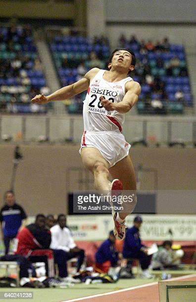 Masaki Morinaga of Japan competes in the Men's Long Jump during day three of the IAAF World Indoor Championships at Green Dome Maebashi on March 7...