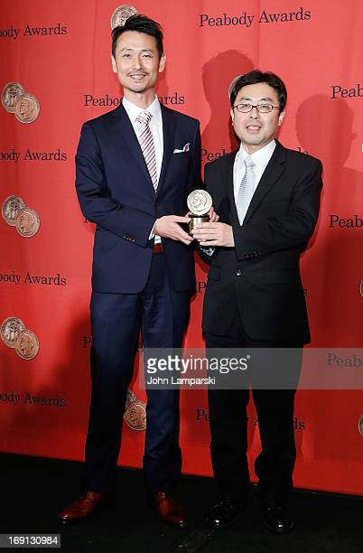 Masakzu Sato and Salo Shi Otani attend 72nd Annual George Foster Peabody Awards at The Waldorf=Astoria on May 20 2013 in New York City