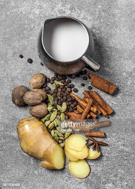masala chai tea ingredients - chai stock photos and pictures