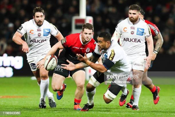 Masalosalo TUTAIA of Bordeaux during the Top 14 match between Stade Toulousain and Bordeaux at Stade Ernest Wallon on January 26 2020 in Toulouse...