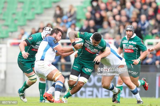 Masalosalo Tutaia of Pau during the French Top 14 match between Pau and Castres on March 12 2017 in Pau France