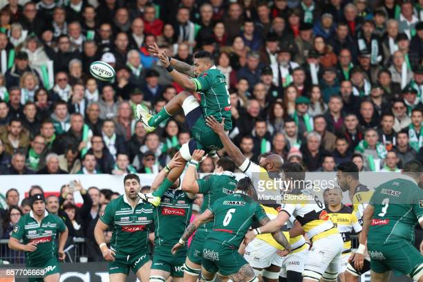 Masalosalo Tutaia of Pau during the Top 14 match between Pau and La Rochelle on March 25 2017 in Pau France