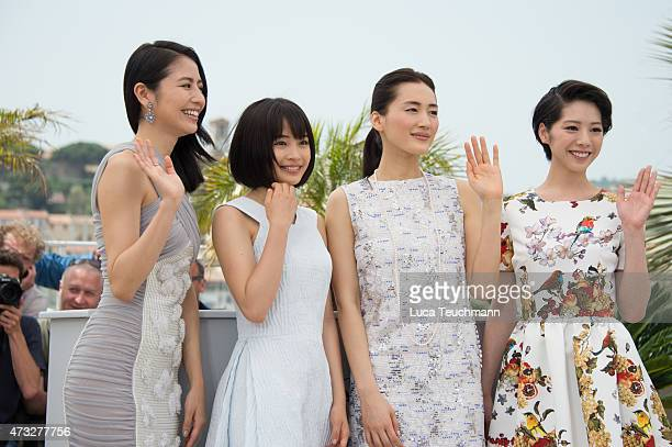 Masami Nagasawa Suzu Hirose haruka Ayase and Kaho attend the 'Notre Petite Soeur' photocall during the 68th annual Cannes Film Festival on May 14...