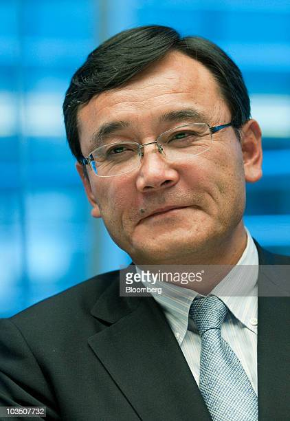 Masami Yamamoto president of Fujitsu Ltd listens during an interview in New York US on Friday Aug 20 2010 Yamamoto said last month that Fujitsu...