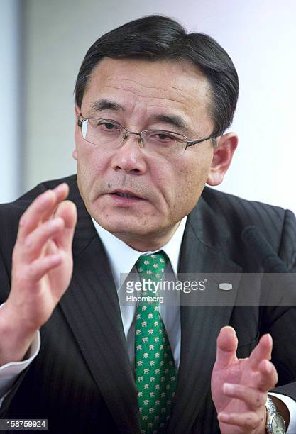 Masami Yamamoto president of Fujitsu Ltd speaks during an interview in Tokyo Japan on Thursday Dec 27 2012 Fujitsu Ltd Japan's biggest provider of...