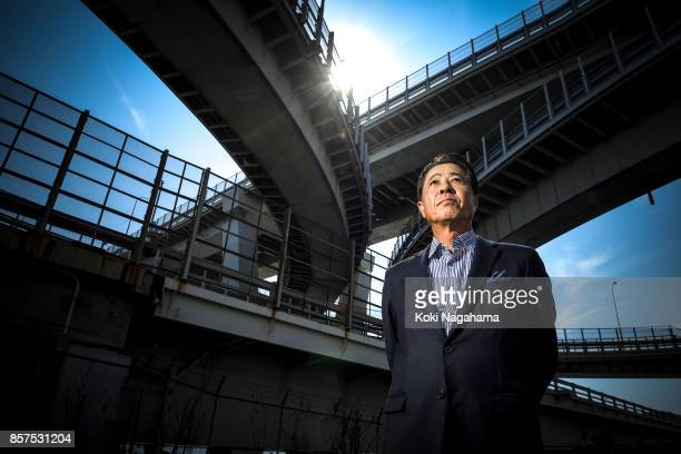 Masamichi Kogai Representative DirectorPresident and CEO Mazda Motor Corporation poses for a photograph at Hiroshima Mazda Head Office on September...