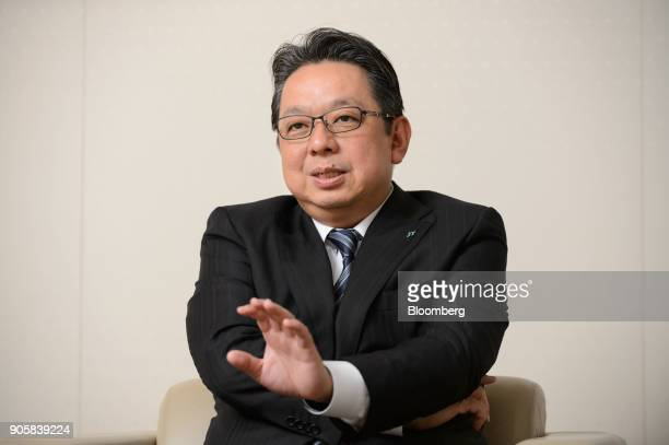 Masamichi Terabatake president and chief executive officer of Japan Tobacco Inc speaks during an interview in Tokyo Japan on Wednesday Jan 17 2018...