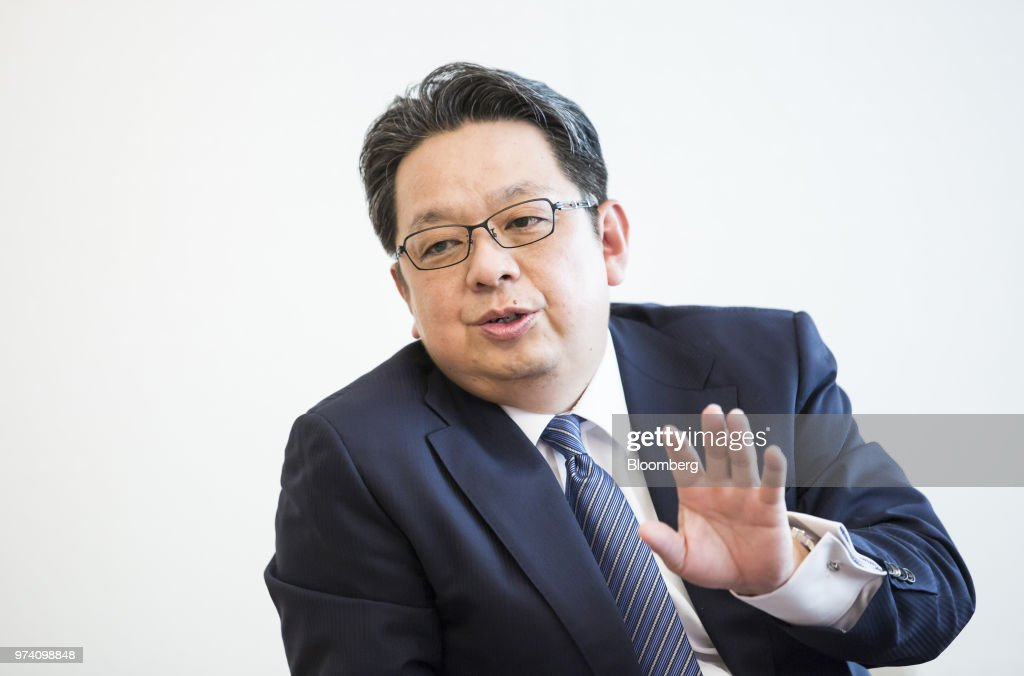 Masamichi Terabatake, president and chief executive officer of Japan Tobacco Inc., speaks during an interview in Tokyo, Japan, on Wednesday, June 13, 2018. Japans impending tax increase on traditional cigarettes may rekindle its stalled market for smokeless devices, according to Terabatake. Photographer: Tomohiro Ohsumi/Bloomberg via Getty Images