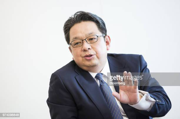 Masamichi Terabatake president and chief executive officer of Japan Tobacco Inc speaks during an interview in Tokyo Japan on Wednesday June 13 2018...