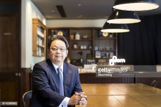 Masamichi Terabatake president and chief executive officer of Japan Tobacco Inc poses for a photograph in a smoking lounge at the company's...
