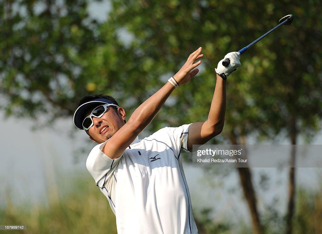 Masanori Kobayashi of Japan in action during round three of the Thailand Golf Championship at Amata Spring Country Club on December 8, 2012 in Bangkok, Thailand.