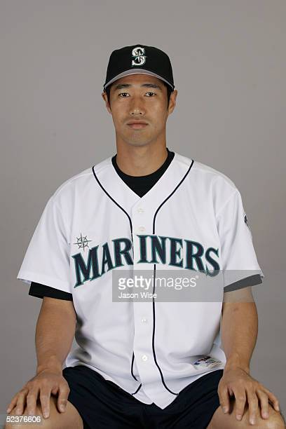 Masao Kida of the Seattle Mariners poses for a portrait during photo day at Peoria Sports Complex on February 27 2005 in Peoria Arizona