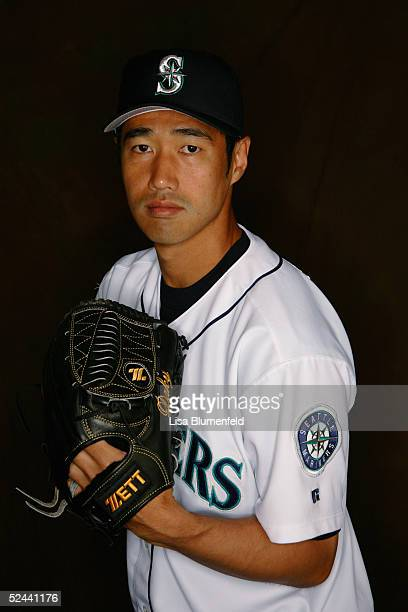 Masao Kida of the Seattle Mariners poses for a portrait during the Seattle Mariners Photo Day at Peoria Stadium on February 27 2005 in Peoria Arizona