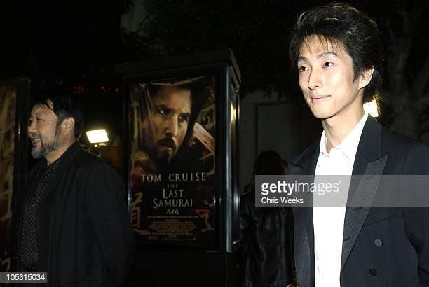 "Masato Harada and Shichinosuke Nakamura during ""The Last Samurai"" - Los Angeles Premiere at Mann's Village Theater in Westwood, California, United..."
