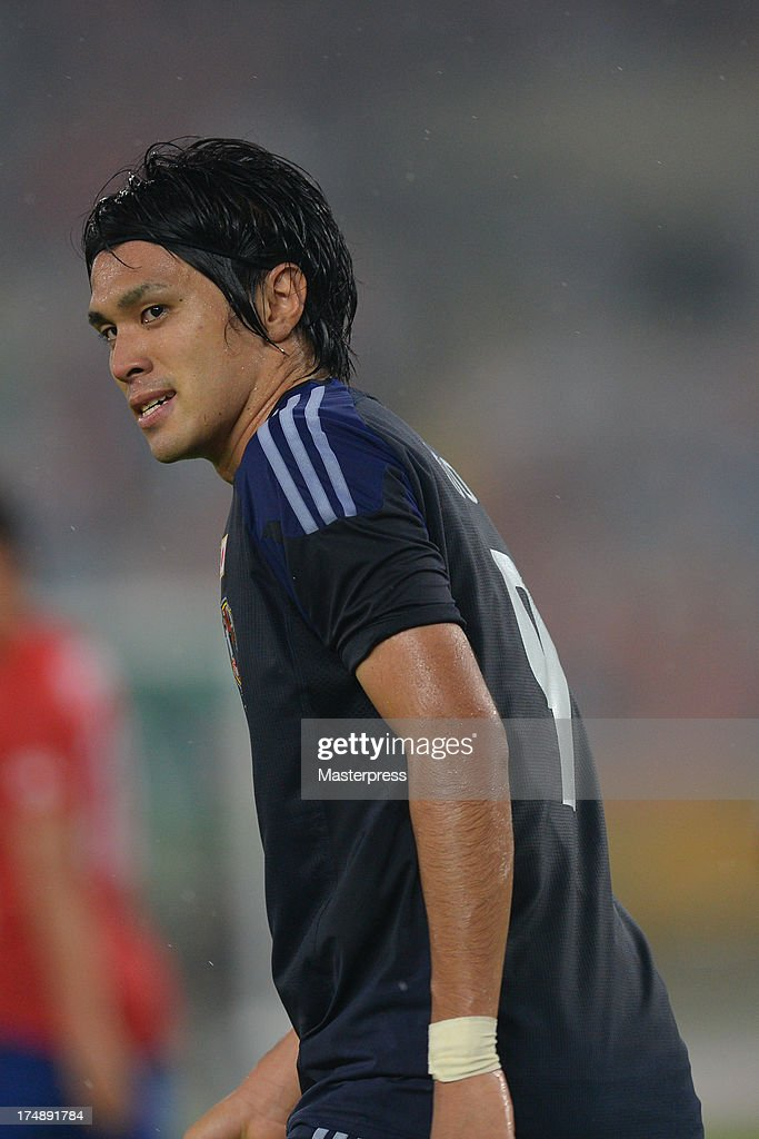 Masato Kudo of Japan in action during the EAFF East Asian Cup match between Korea Republic (South Korea) and Japan at Jamsil Stadium on July 28, 2013 in Seoul, South Korea.