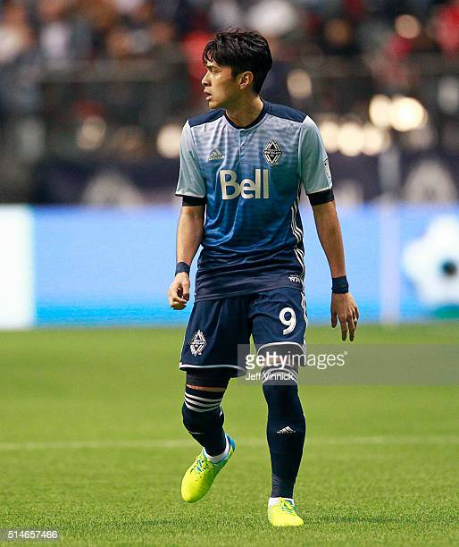 Masato Kudo of the Vancouver Whitecaps watches the play during their MLS game against the Montreal Impact March 6, 2016 at BC Place in Vancouver,...