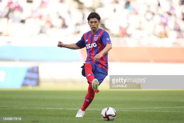 Masato MORISHIGE of FC Tokyo in action during the J.League Levain Cup Semi Final second leg match between FC Tokyo and Nagoya Grampus at Ajinomoto...