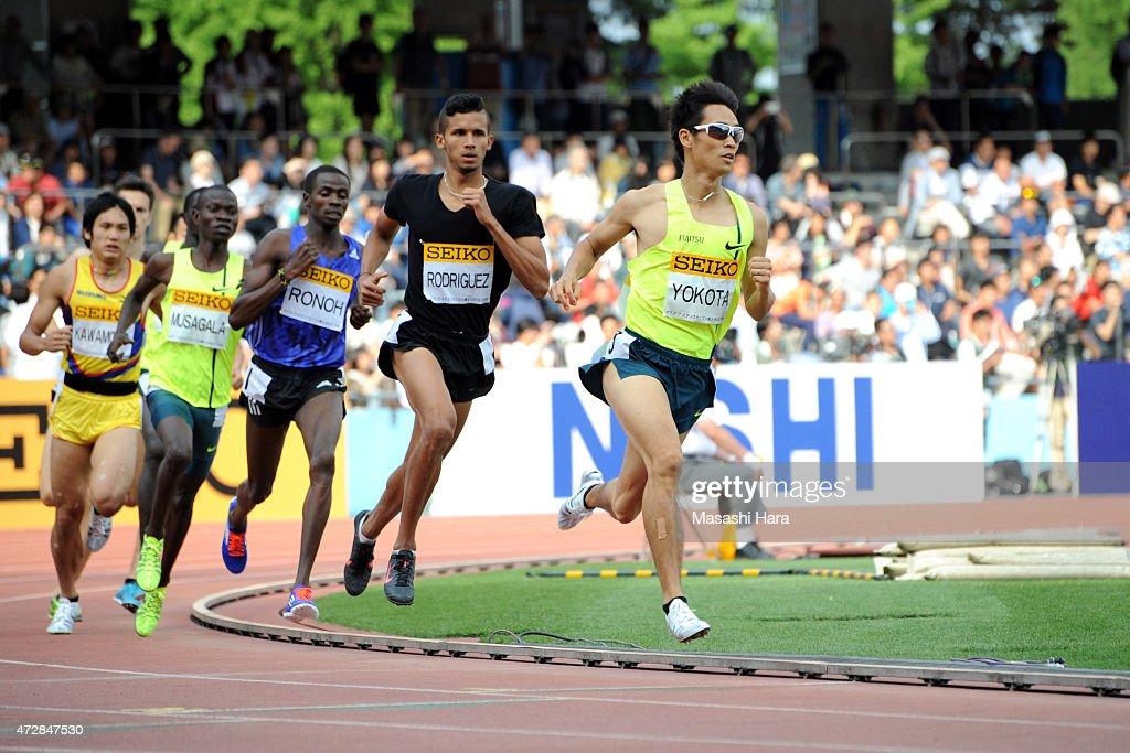 Masato Yokota competes in the 800m during the Seiko Golden Grand Prix Tokyo 2015 at Todoroki Stadium on May 10, 2015 in Kawasaki, Japan.