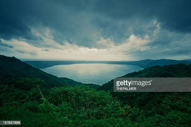 masaya volcano crater lake  in nicaragua - masaya volcano stock pictures, royalty-free photos & images