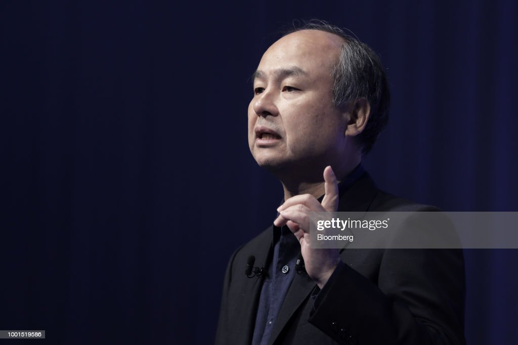 Billionaire Masayoshi Son Delivers Keynote At Annual SoftBank World Event