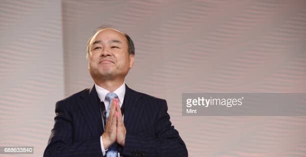Masayoshi Son Japanese businessman and the founder and current chief executive officer of SoftBank photographed at HT Leadership summit in New Delhi