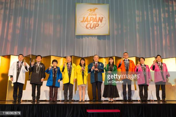 Masayuki Goto , President and CEO of Japan Racing Association, and the participate owners of Japan Cup at Conrad Hotel during the Japan Cup Welcome...