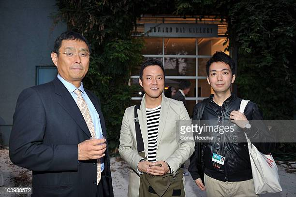 Masayuki Suzuki director Yasuhiro Morinaga and Kenta Fudesaka attend 'Heavenhell' held at MOCCA during the 35th Toronto International Film Festival...