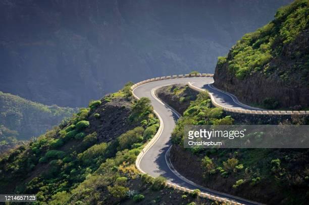 masca mountain road, tenerife, islas canarias, españa, europa - isla de tenerife fotografías e imágenes de stock