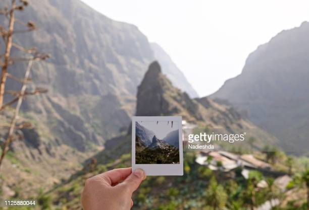 masca, tenerife, canary islands, spain - holding aloft stock pictures, royalty-free photos & images
