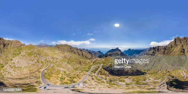 masca valley aerial 360° hdr panorama - 360 degree view stock pictures, royalty-free photos & images
