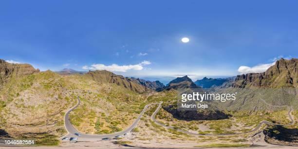 masca valley aerial 360° hdr panorama - hdri 360 ストックフォトと画像