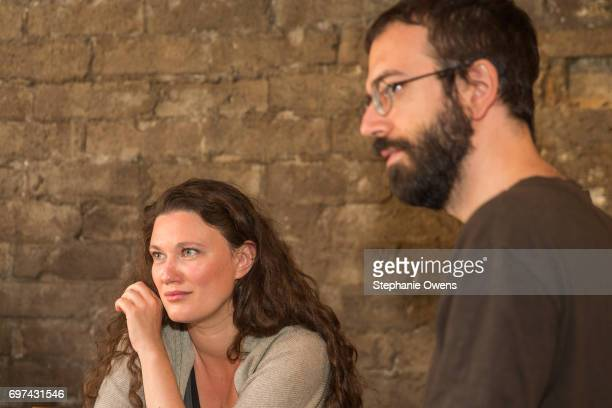 Mascha Schilinski and Alexandros Voulgaris attend the DGA Reception during 2017 Los Angeles Film Festival at City Tavern on June 16 2017 in Culver...