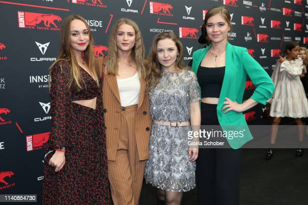 Mascha von Kreisler Jeanne Goursaud Marija Mauer Farina Flebbe during the Bunte New Faces Award Film at Umspannwerk Alexanderplatz on May 2 2019 in...