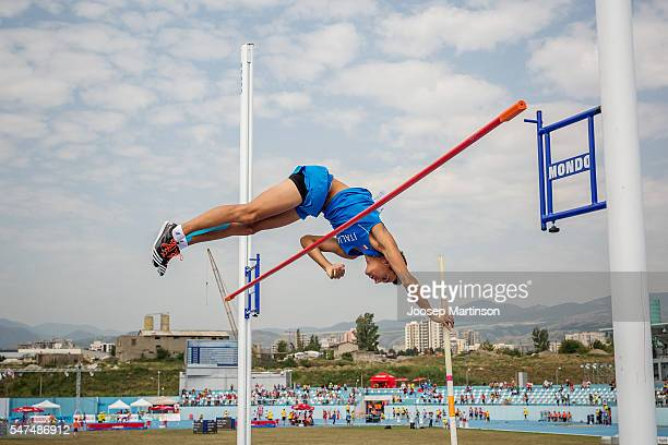 Masci Fancesco of Italy competes in the Boys Pole Vault Qualification during European Athletics Youth Championships on July 15 2016 in Tbilisi Georgia